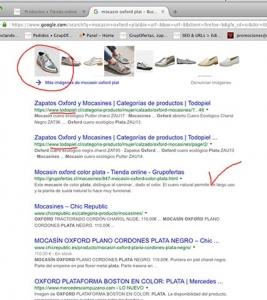 Google chile posicionamiento zapatos