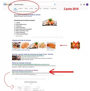 arroz risotto de mariscos