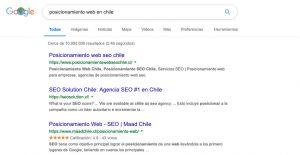 posicionamiento web en chile
