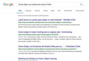 Como elegir una empresa de web en Chile