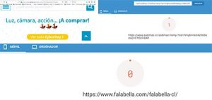 Rendimiento web falabella