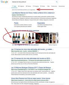 posicionamiento por beneficio de vinos premium