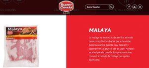 recetas de cerdo, malaya a la parrilla
