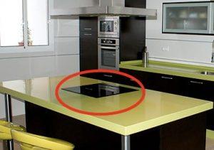 cocina encimera con mueble