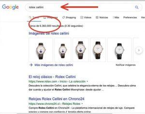 Posicionamiento web reloj Rolex en Chile