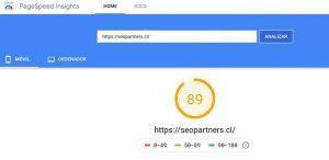 Rendimiento web de Seopartners