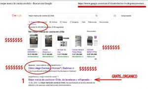 Posicionamiento Orgánico Web en Chile de cocinas